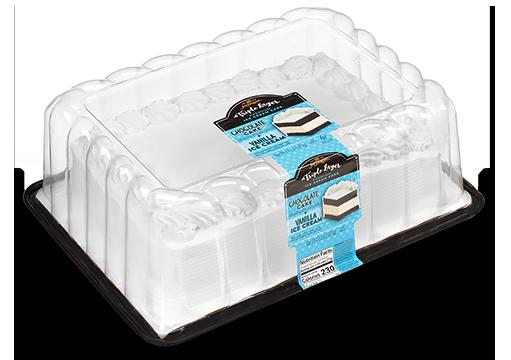 Vanilla Ice Cream with White Cake