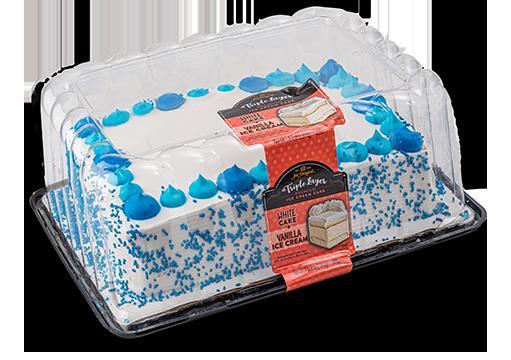 Jon Donaire White Ice Cream Layer Cake with Vanilla Cake