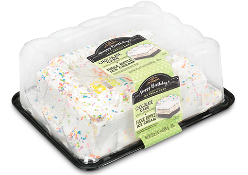 Jon Donaire Fudge Ripple Ice Cream Birthday Cake