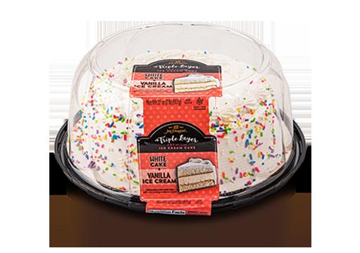 Jon Donaire Triple Layer Ice Cream Cake - Decorated
