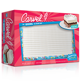 Carvel Family Size Ice Cream Cake - Confetti Plain 2017