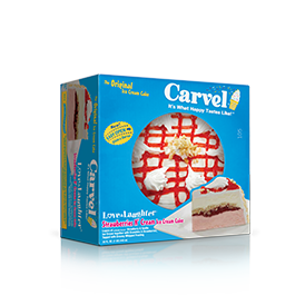 Carvel Love N' Laughter Ice Cream Cake - Strawberries'n Cream