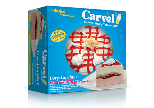 Carvel® Love N' Laughter® Ice Cream Cake – Strawberries N' Cream (Seasonal)
