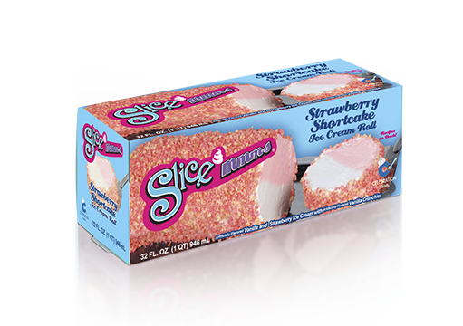 Carvel Slice'Mmms, Strawberry Shortcake Ice Cream Roll – Seasonal
