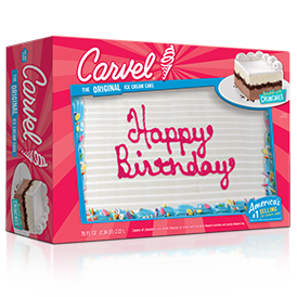 Carvel Family Size Ice Cream Cake - Confetti Happy Birthday 2017
