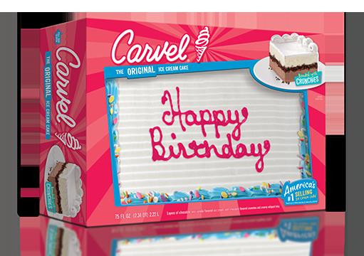 Carvel Family Size Ice Cream Cake - Confetti Happy Birthday 2017