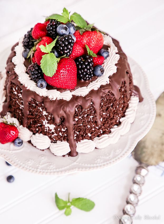 Berry Chocolate Ice Cream Cake
