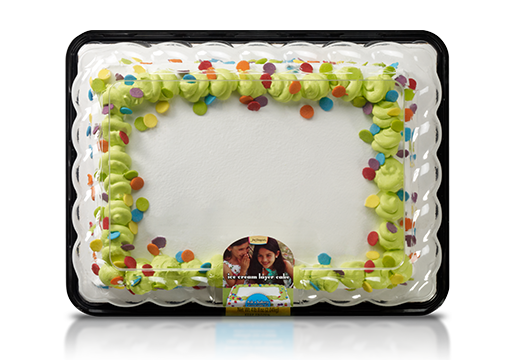 Jon Donaire Vanilla Ice Cream Sheet Cake with White Cake