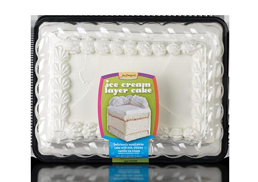 Jon Donaire Vanilla Ice Cream Sheet Cake with White Cake