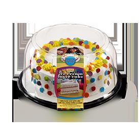 Jon Donaire White Cake/Vanilla Ice Cream Round Cake