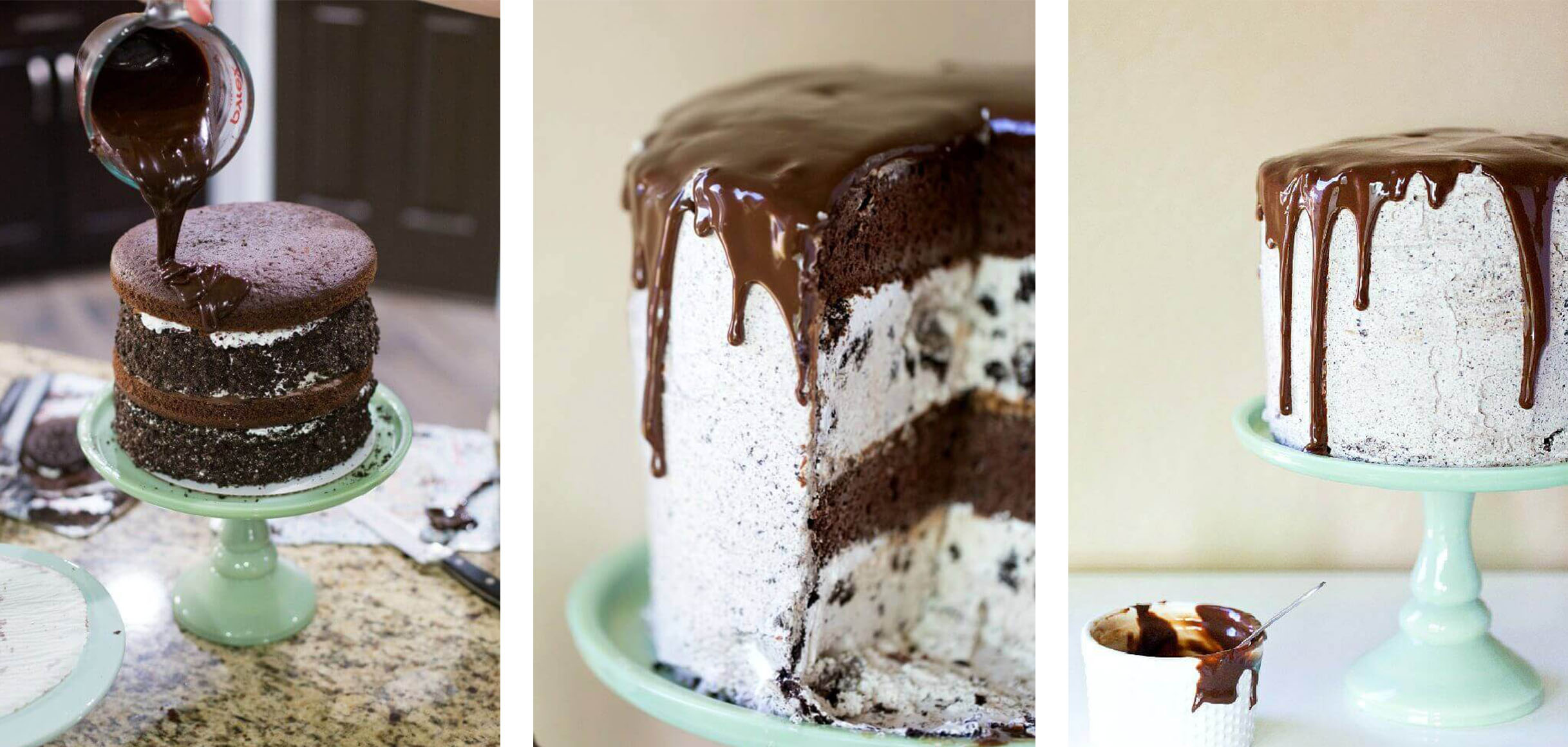 Double OREO Chocolate Ice Cream Cake