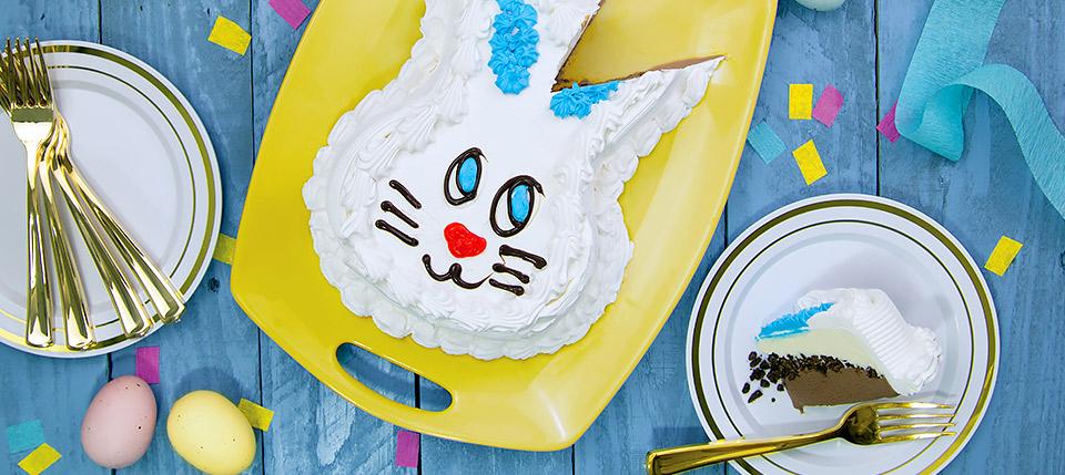 Bunny Ice Cream Cake