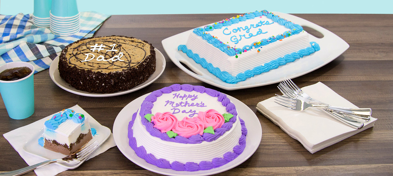 New ice cream cakes