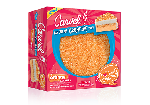 Carvel Lil' Love Orange & Vanilla Ice Cream Crunchie Cake