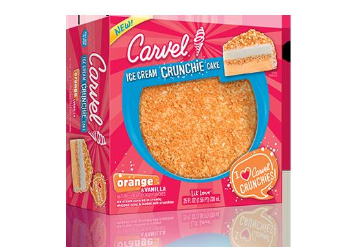Carvel Lil' Love Orange & Vanilla Ice Cream Crunchie Cake