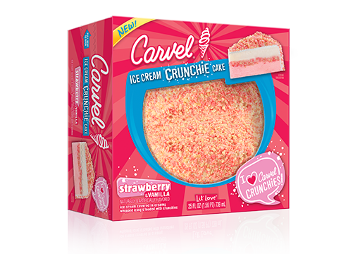 Carvel® Lil' Love Strawberry Ice Cream Crunchie Cake