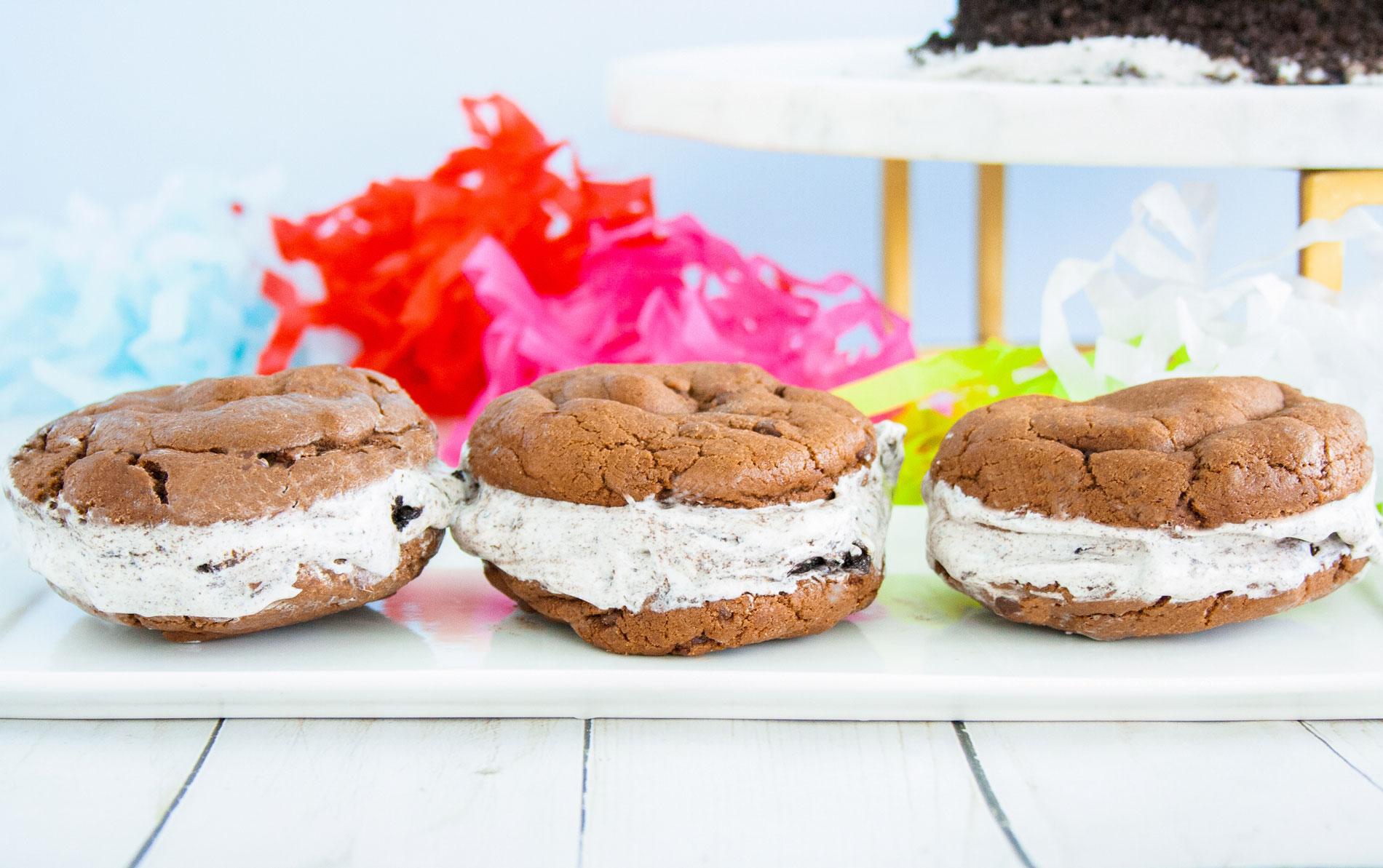 Mocha Carvel Oreo Ice Cream Sandwich