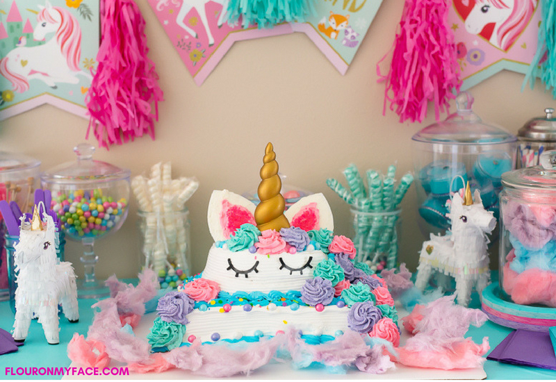 unicorn ice cream cake