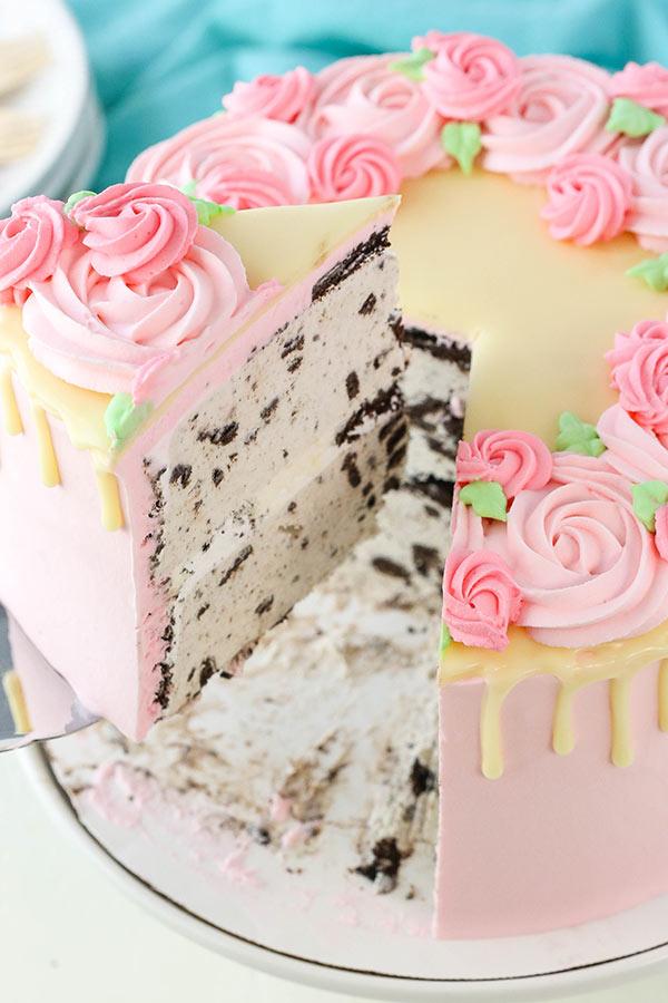 Mother's Day Ice Cream Cake Decorating Tutorial3