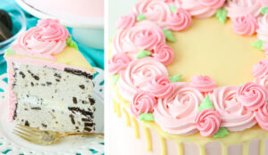 Mother's Day Ice Cream Cake Decorating Tutorial
