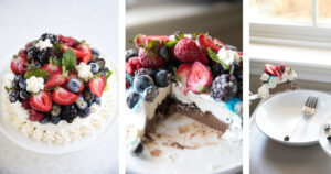 How to Decorate an Ice Cream Cake for the Holidays