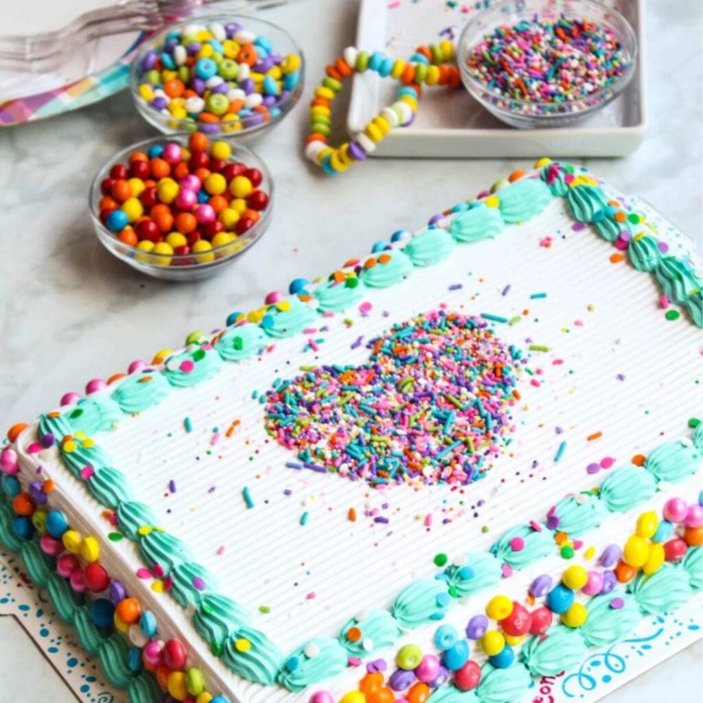Carvel Family Sized Confetti Ice Cream Cake